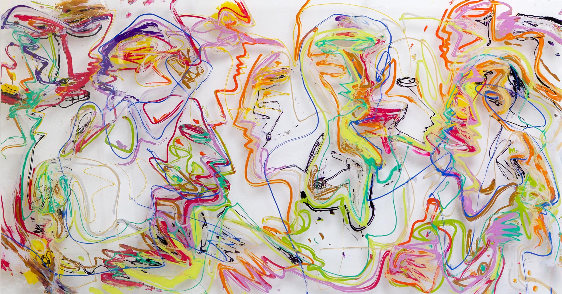 Jan van Lokhorst figuur compositie op plexiglas