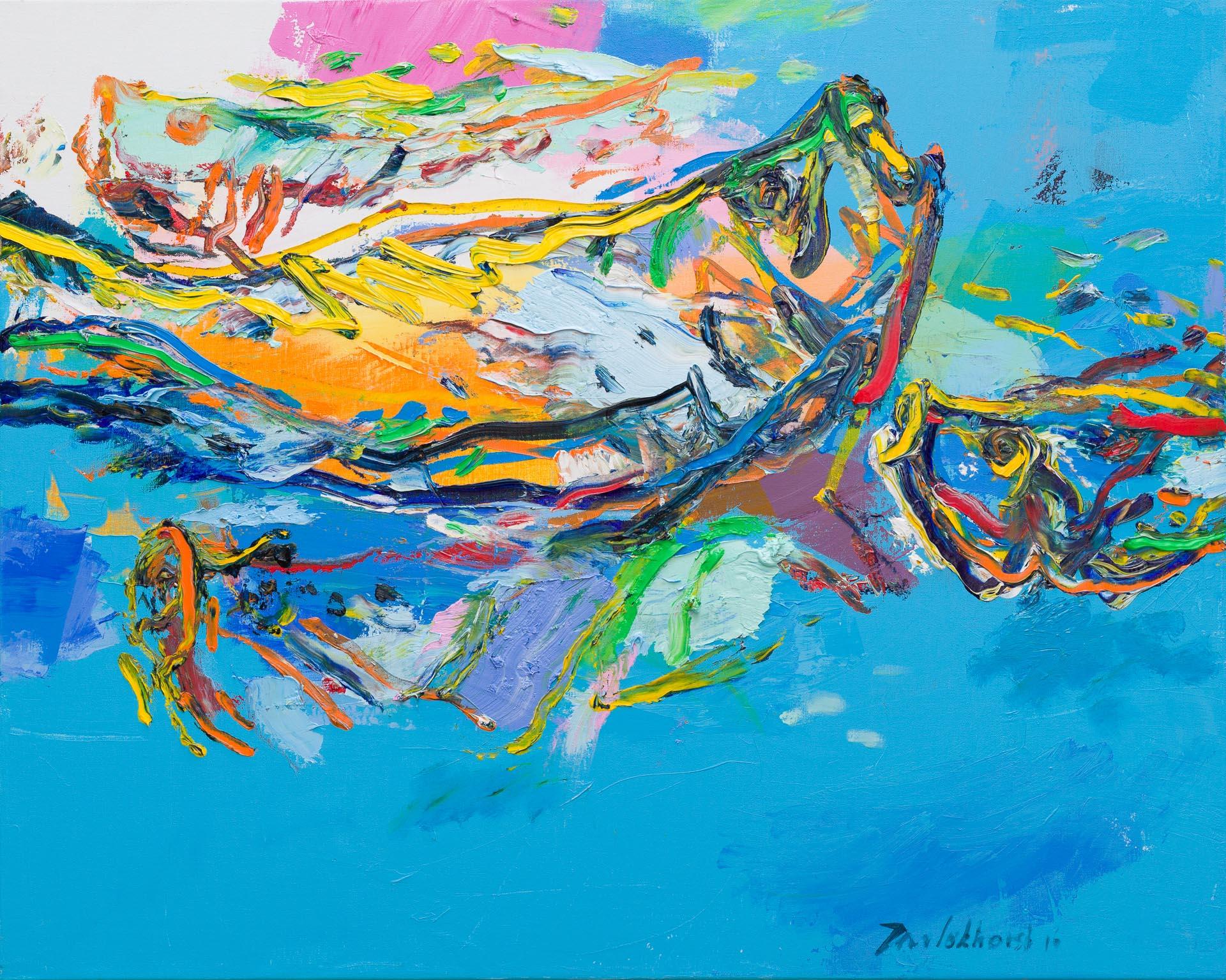 Schilderij vissen Jan van Lokhorst