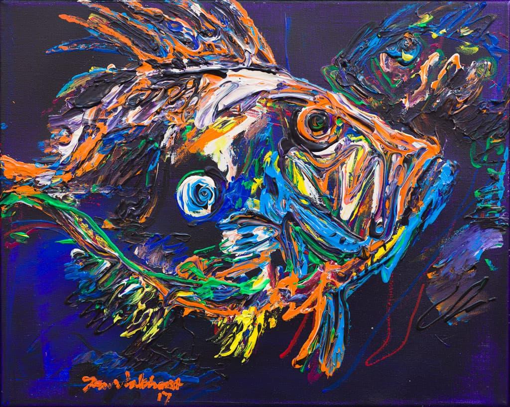 Schilderij vissen