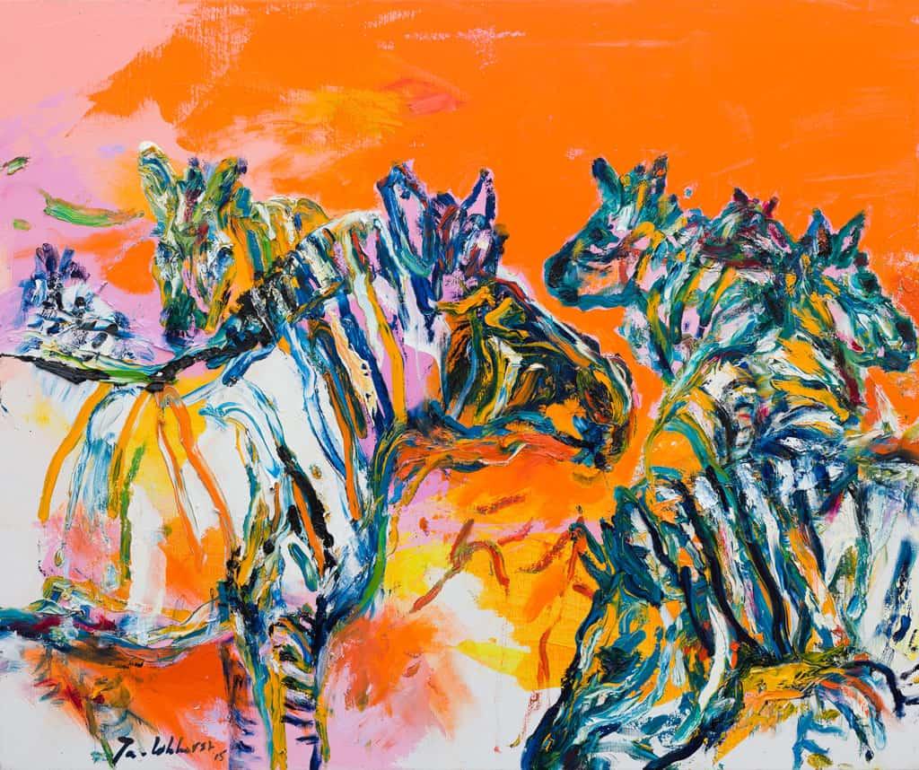 Schilderij zebra
