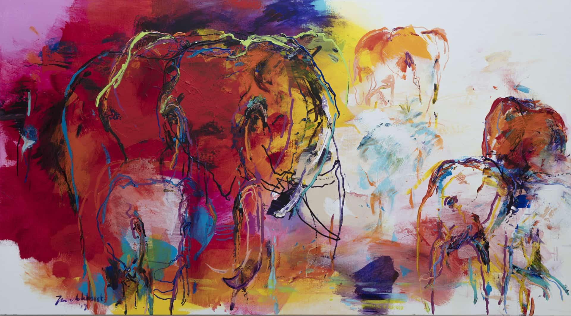 Schilderij olifant