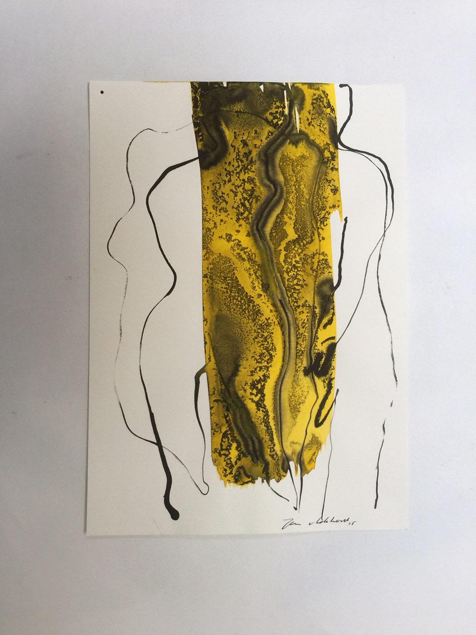 Gemengde techniek op papier, Jan van Lokhorst