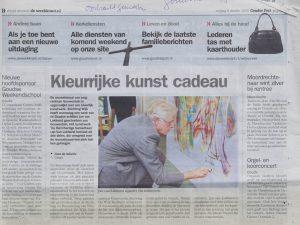 Kleurrijke kunst kado Gouwestein
