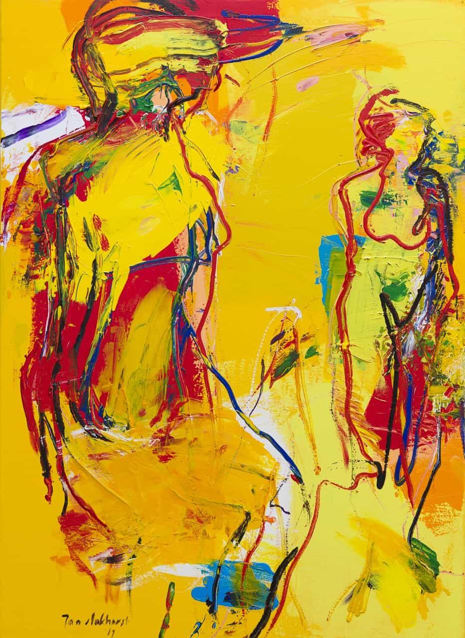 Figuur compositie geel