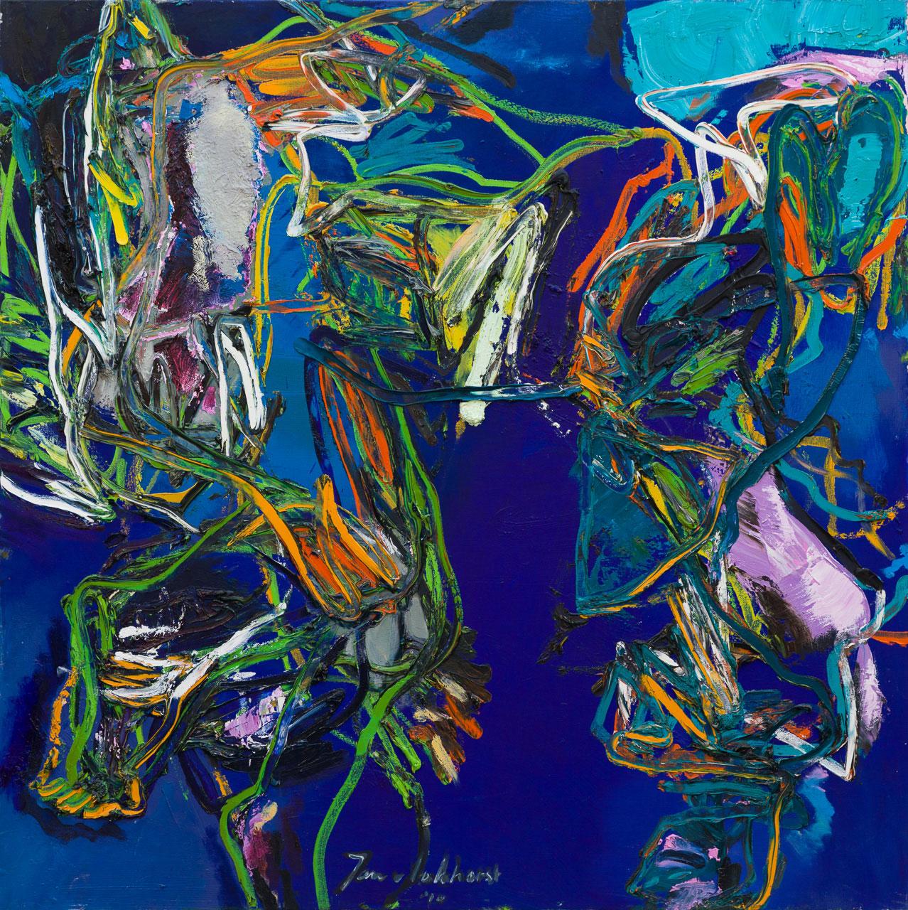 Figuur compositie donker blauw