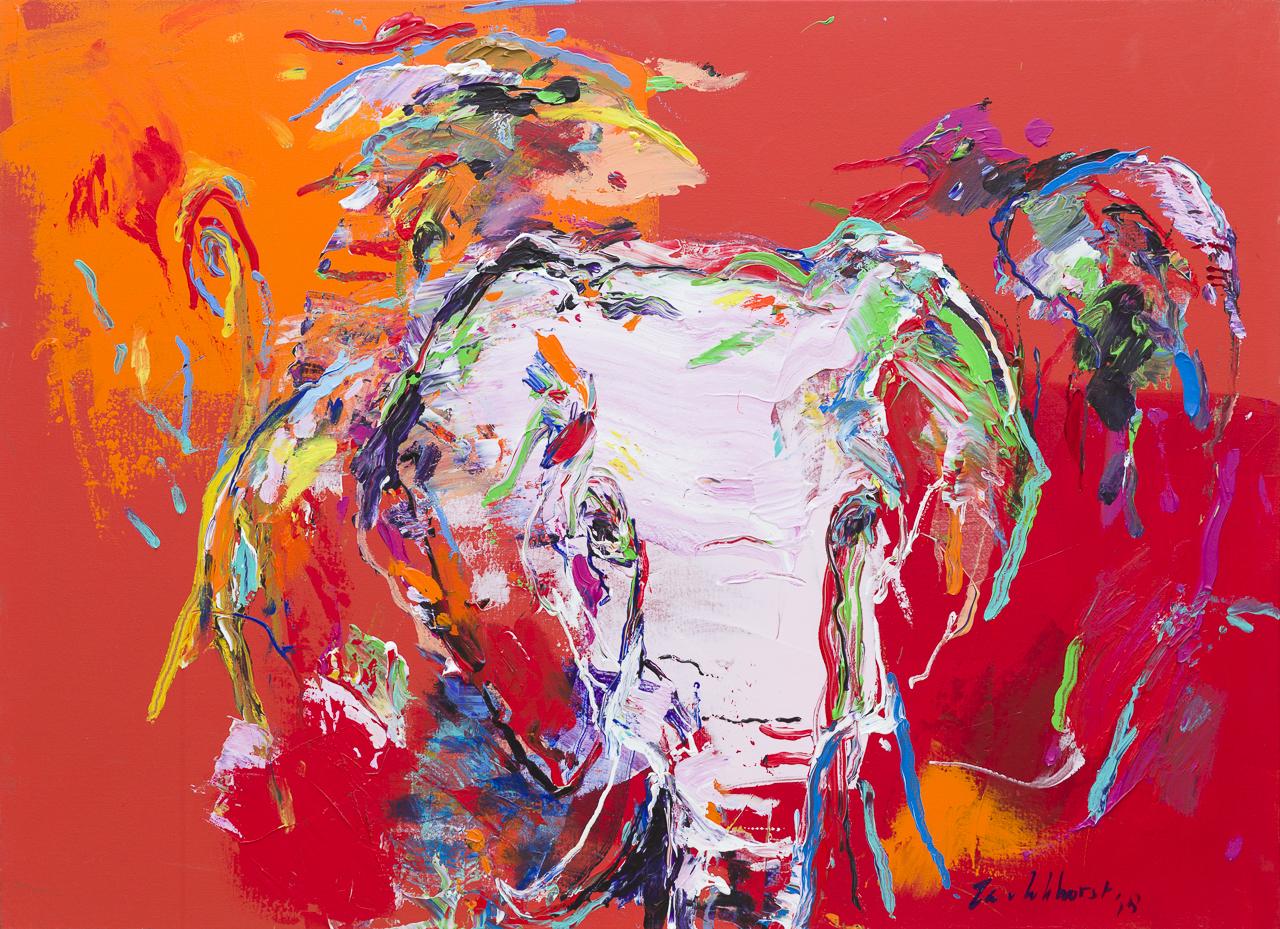 Schilderij olifantenkop