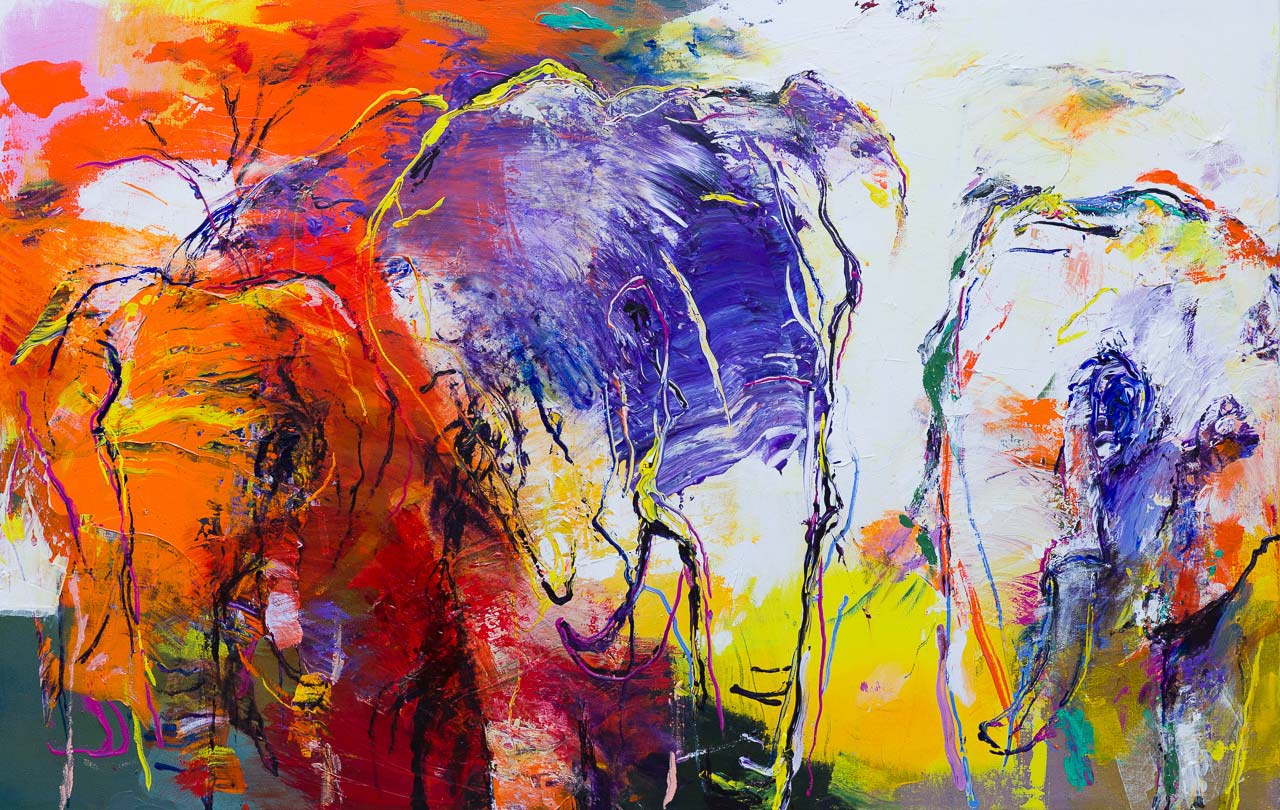 Olifanten schilderij DO67