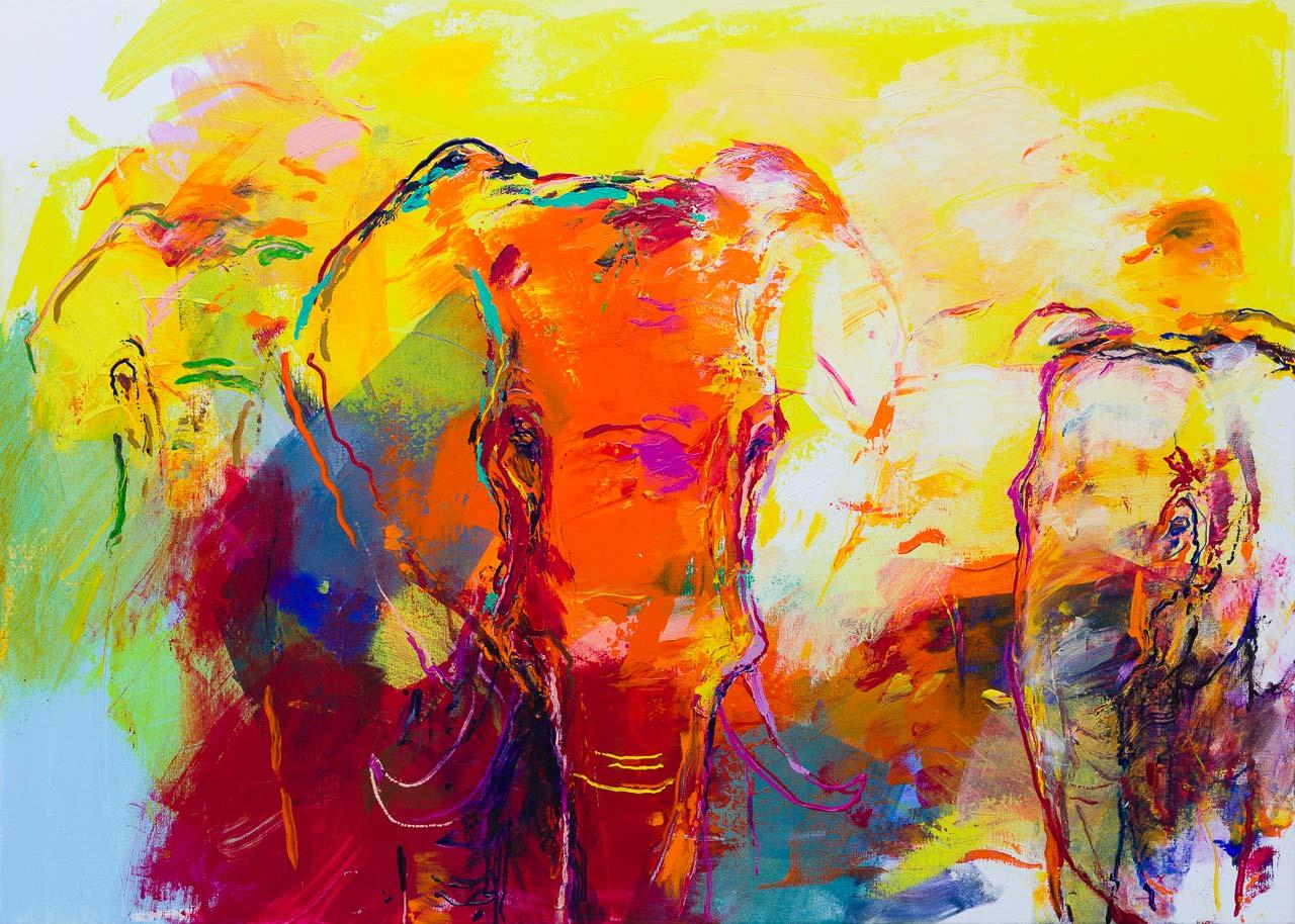 Olifanten schilderij DO68