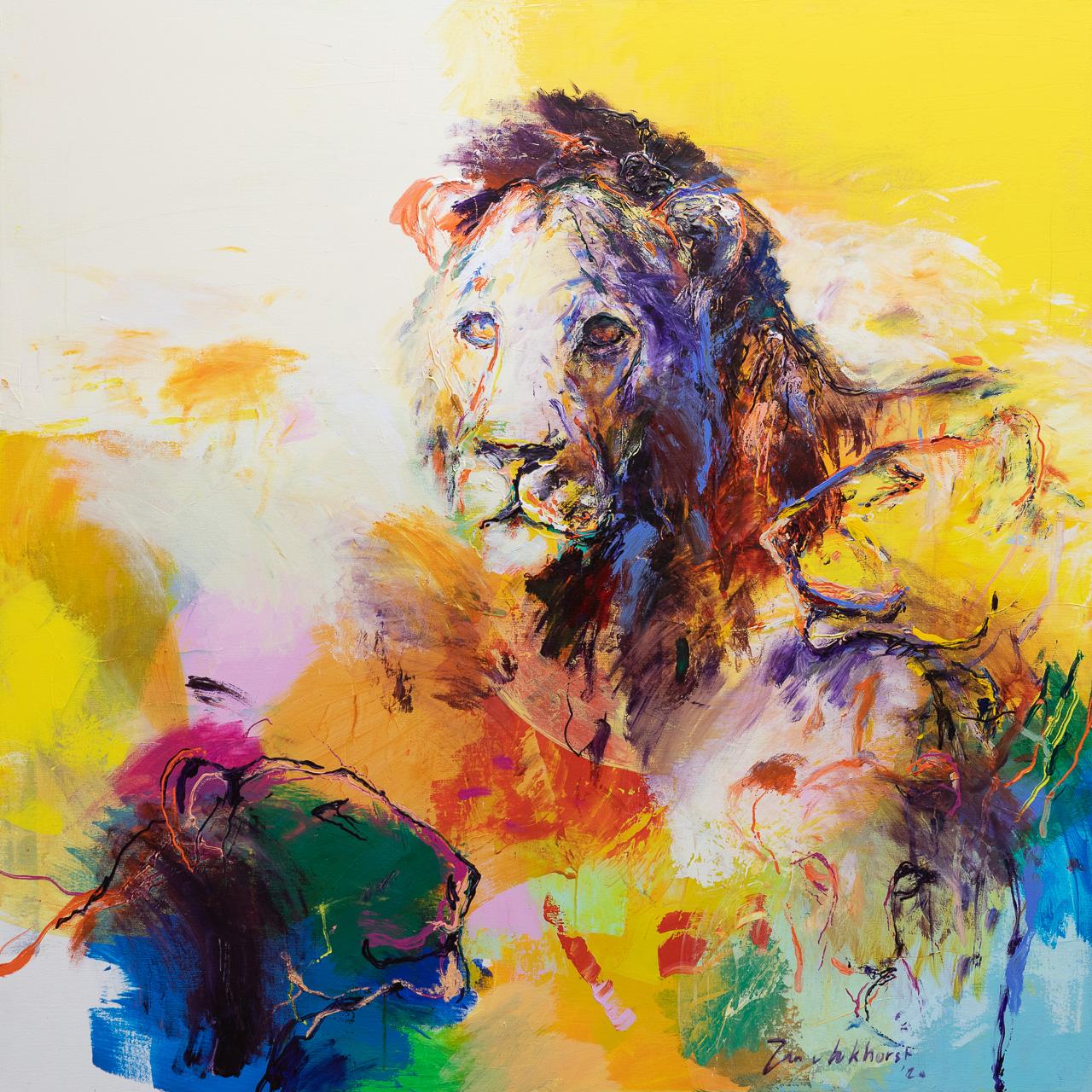 leeuwen-schilderij-LE35