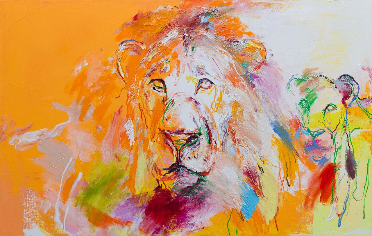 leeuwen schilderij